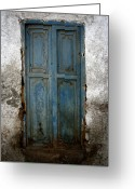 Old Doors Greeting Cards - Old Blue Door Greeting Card by Shane Rees