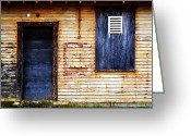 Barry Greeting Cards - Old Blue Doors Greeting Card by Matt Hanson