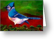 Reds Greeting Cards - Old Blue Greeting Card by Johnathan Harris