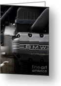 Engines Greeting Cards - Old BMW Motorcycle Engine . 7D13655 Greeting Card by Wingsdomain Art and Photography