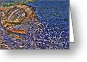 St. Lucia Photographs Greeting Cards - Old Boat Greeting Card by Bill Mortley