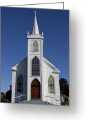 Faith Photo Greeting Cards - Old Bodega Church Greeting Card by Garry Gay