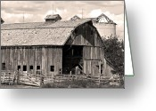 The Lightning Man Greeting Cards - Old Boulder County Colorado Barn Greeting Card by James Bo Insogna