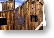 Saw Blade Greeting Cards - Old building Bodie ghost town Greeting Card by Garry Gay