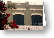 Architecture Glass Art Greeting Cards - Old Building Greeting Card by Gale H Rogers 