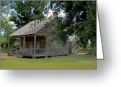 Cajun Greeting Cards - Old Cajun Home Greeting Card by Judy Vincent