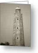 Scenic Byways Greeting Cards - Old Cape Henry Lighthouse Greeting Card by Skip Willits