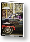 Old Car Pyrography Greeting Cards - Old Car 2 Greeting Card by Mauro Celotti