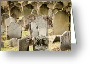 Paul Revere Greeting Cards - Old Cemetery In Boston Where Paul Greeting Card by Tim Laman