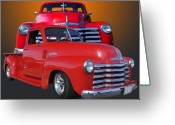 Chev Pickup Greeting Cards - Old Chev Greeting Card by Jim  Hatch