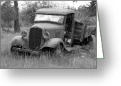 Fifties Buick Greeting Cards - Old Chevy Truck Greeting Card by Steve McKinzie
