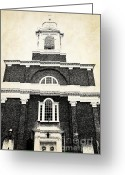 Home Greeting Cards - Old Church in Boston Greeting Card by Elena Elisseeva
