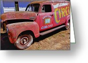 Wreck Greeting Cards - Old circus truck Greeting Card by Garry Gay