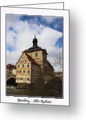 Bamberg Greeting Cards - Old City Hall Bamberg Greeting Card by Rosi Lorz