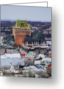 Overhead Greeting Cards - Old City Skyline Greeting Card by Jeremy Woodhouse