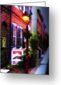 City Streets Greeting Cards - Old City Streets - Elfreths Alley Greeting Card by Bill Cannon