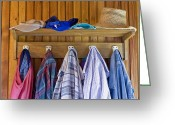 Gray Pants Greeting Cards - Old clothes in the old house Greeting Card by Aleksandr Volkov