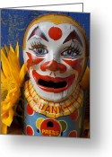 Toys Greeting Cards - Old Clown Bank Greeting Card by Garry Gay
