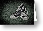 Boot Greeting Cards - Old Converse Greeting Card by Gert Lavsen