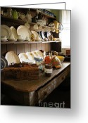 Teapot Greeting Cards - Old Country Kitchen Greeting Card by Therese Alcorn