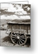 Antique Wagon Greeting Cards - Old Country Wagon Greeting Card by Marilyn Hunt