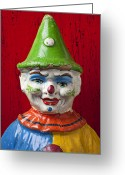 Toys Greeting Cards - Old Cown face Greeting Card by Garry Gay