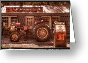 Collectibles Greeting Cards - Old Days Vintage Greeting Card by Debra and Dave Vanderlaan