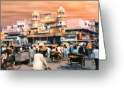 Movie Theater Greeting Cards - Old Dehli Greeting Card by Kurt Van Wagner