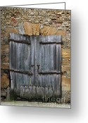 Rotted Greeting Cards - Old derelict wooden door Greeting Card by Richard Thomas