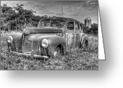Wheels Greeting Cards - Old DeSoto Greeting Card by Scott Norris