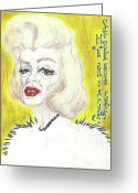 Superstar Mixed Media Greeting Cards - Old Diva Greeting Card by Andreea Paraschiv