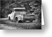 Truck Shows Greeting Cards - Old Dodge Truck Greeting Card by Brian Mollenkopf