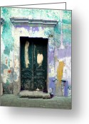 Darian Day Greeting Cards - Old Door 4 by Darian Day Greeting Card by Olden Mexico