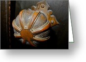 Melon Greeting Cards - Old Door Knob Greeting Card by Kirsten Giving