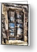 Graphic Pyrography Greeting Cards - Old Door Greeting Card by Mauro Celotti
