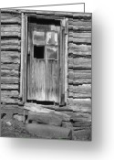Knobs Greeting Cards - Old Door Greeting Card by Richard Rizzo