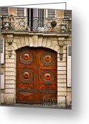 Wood Sculpture Greeting Cards - Old doors Greeting Card by Elena Elisseeva