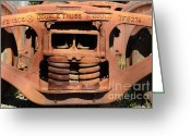 Rail Roads Greeting Cards - Old Double Truss Train Wheel . 7D12855 Greeting Card by Wingsdomain Art and Photography