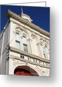 Fire Houses Greeting Cards - Old Empire Fire House Number One . San Jose California . 7D13014 Greeting Card by Wingsdomain Art and Photography