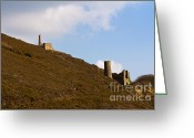 Kernow Greeting Cards - Old Engine House Greeting Card by Brian Roscorla