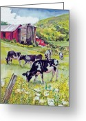 The Berkshires Greeting Cards - Old Farm Greeting Card by P Anthony Visco