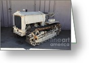 Old Farm Equipment Greeting Cards - Old Farm Tractor . 5D16571 Greeting Card by Wingsdomain Art and Photography