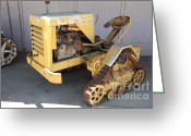 Old Farm Equipment Greeting Cards - Old Farm Tractor . 5D16572 Greeting Card by Wingsdomain Art and Photography
