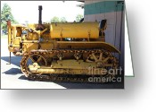 Old Farm Equipment Greeting Cards - Old Farm Tractor . 5D16598 Greeting Card by Wingsdomain Art and Photography