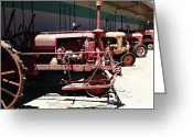 Old Farm Equipment Greeting Cards - Old Farm Tractor . 5D16600 Greeting Card by Wingsdomain Art and Photography