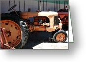 Old Farm Equipment Greeting Cards - Old Farm Tractor . 5D16602 Greeting Card by Wingsdomain Art and Photography