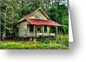 Florida House Greeting Cards - Old Florida VI Greeting Card by Julie Dant