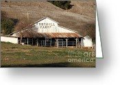 Foothill Greeting Cards - Old Foothill Farms in Small Town of Sunol California . 7D10796 Greeting Card by Wingsdomain Art and Photography