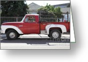 Ford Truck Greeting Cards - Old Ford 100 Truck . 5D16794 Greeting Card by Wingsdomain Art and Photography