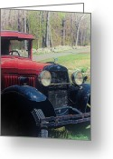 Classic Auto Greeting Cards - Old Ford Pickup Greeting Card by Karol  Livote
